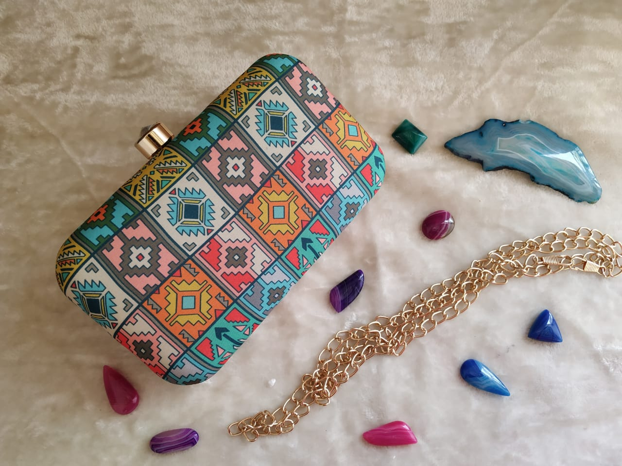 Spring Summer Pastel Shade Clutch Bag/ Evening Clutch